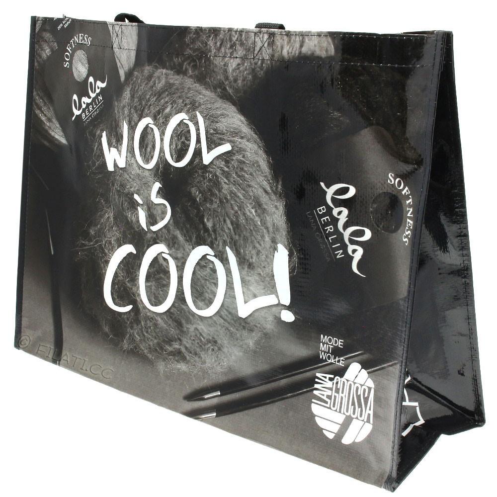 Sac shopping WOOL IS COOL - 2 | 01-noir/blanc/gris
