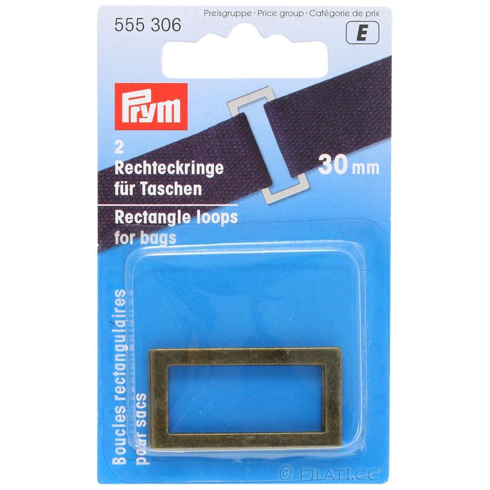 Boucles rectangulaires pour sacs 555306/30mm