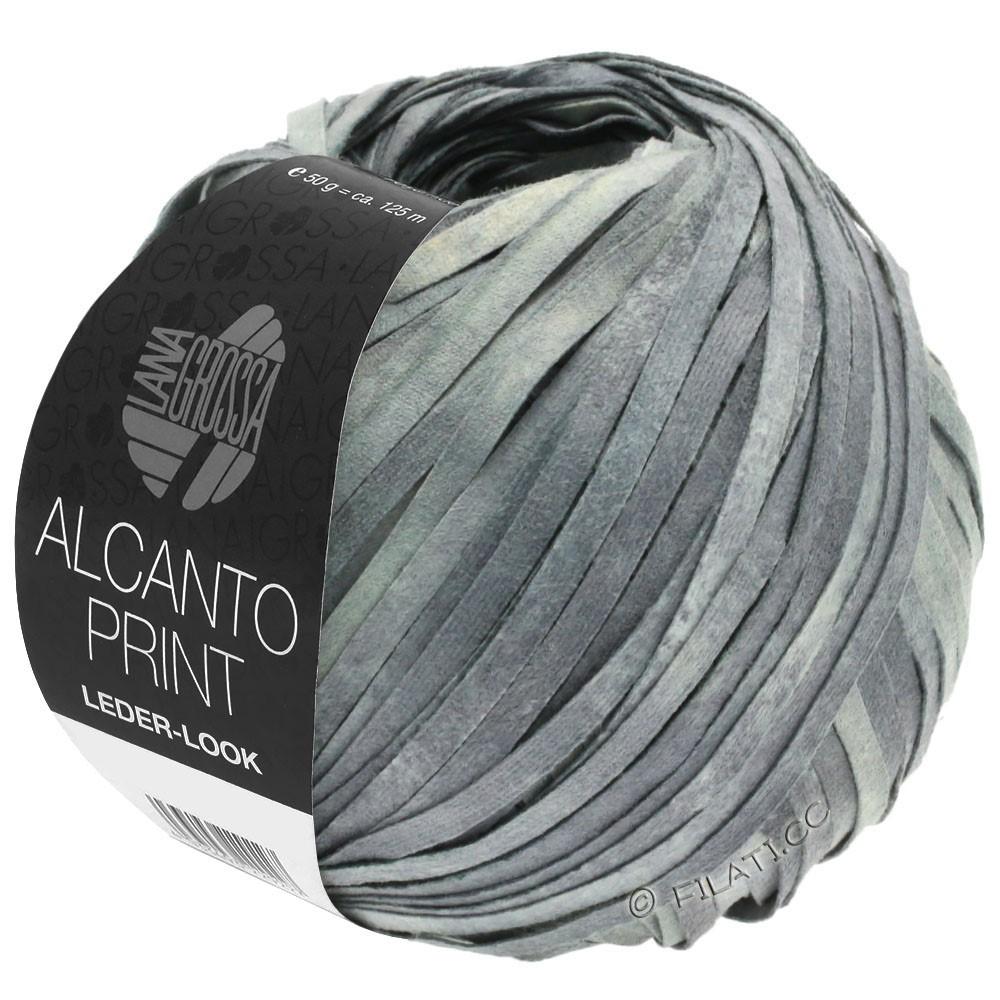 Lana Grossa ALCANTO Print | 103-gris moyen/gris clair/nature