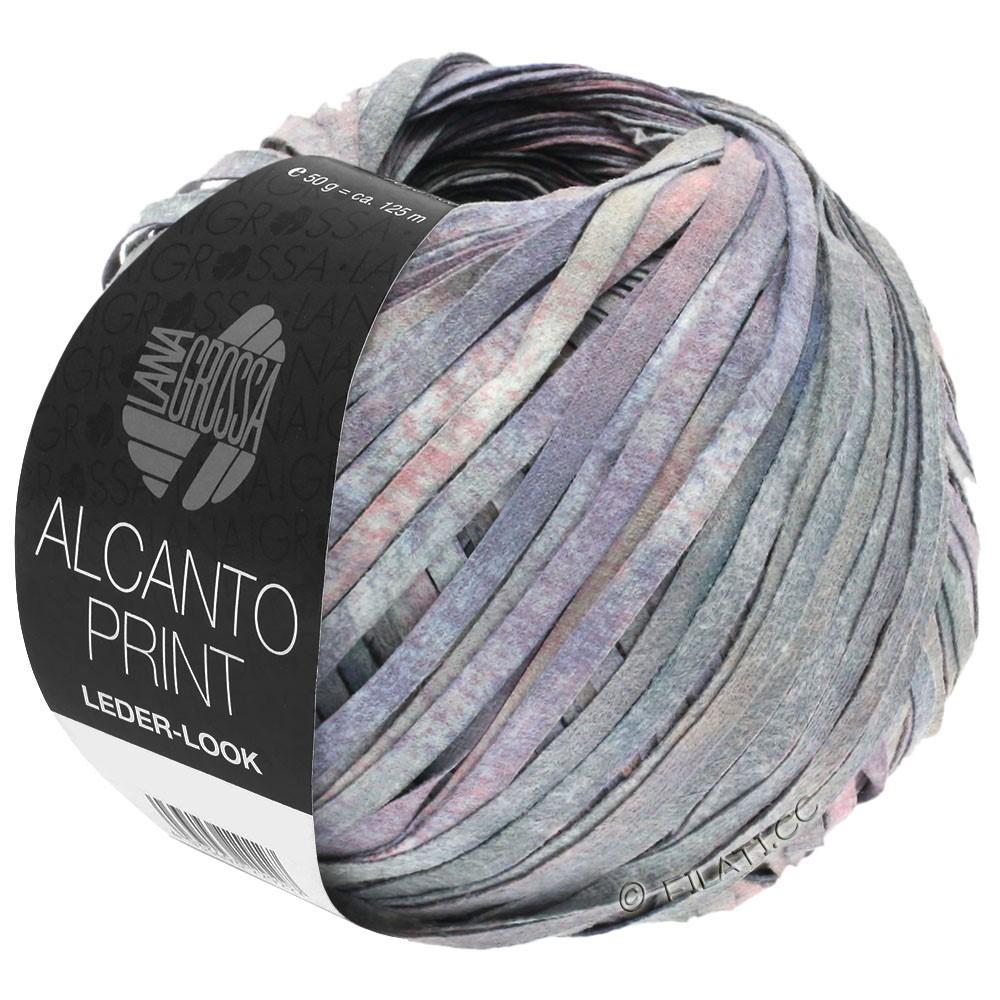 Lana Grossa ALCANTO Print | 104-gris/lilas/rose
