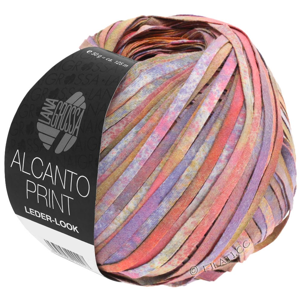 Lana Grossa ALCANTO Print | 106-rose/pourpre/brun