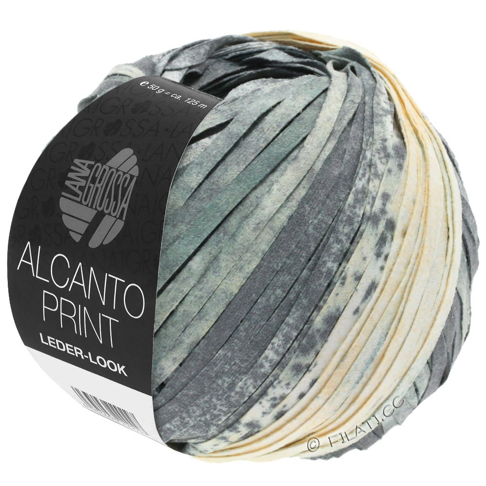 Lana Grossa ALCANTO Print | 203-gris/blanc