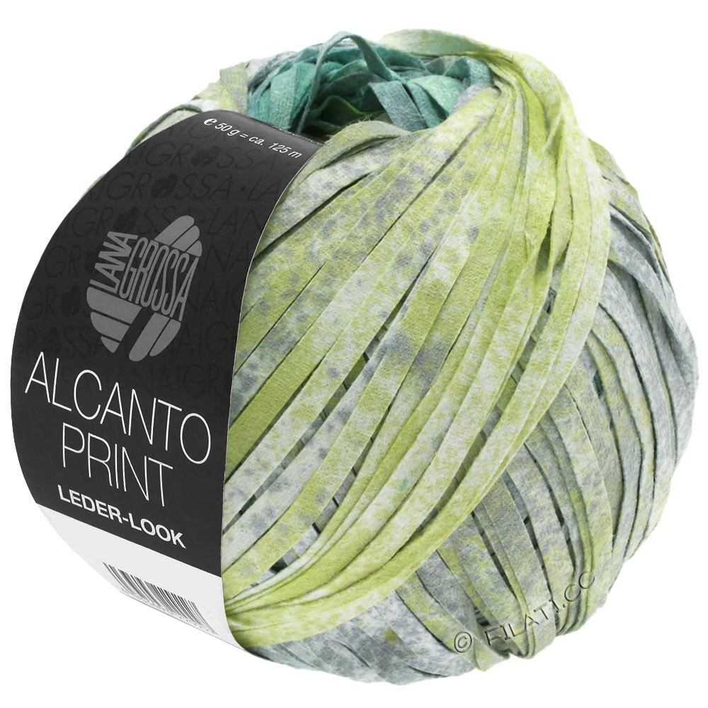 Lana Grossa ALCANTO Print | 204-turquoise/blanc
