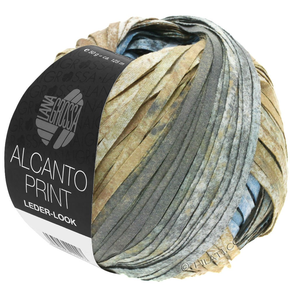 Lana Grossa ALCANTO Print | 206-nature/brun sable/gris