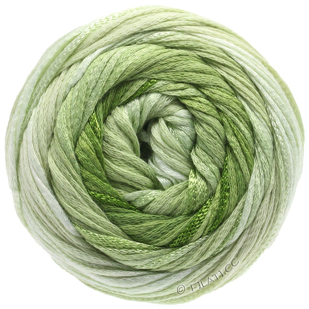 Lana Grossa ALLEGRO Degradé | 207-nature/vert tendre/vert clair/feuille vert/vert olive