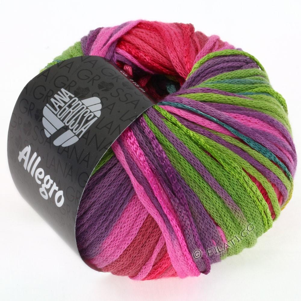 Lana Grossa ALLEGRO | 001-turquoise/jaune moutarde/rose vif/vert clair/violet