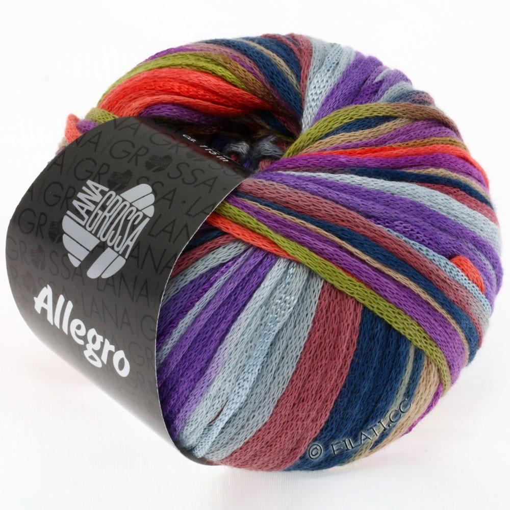 Lana Grossa ALLEGRO | 004-olive/baies/corail/violet/chameau