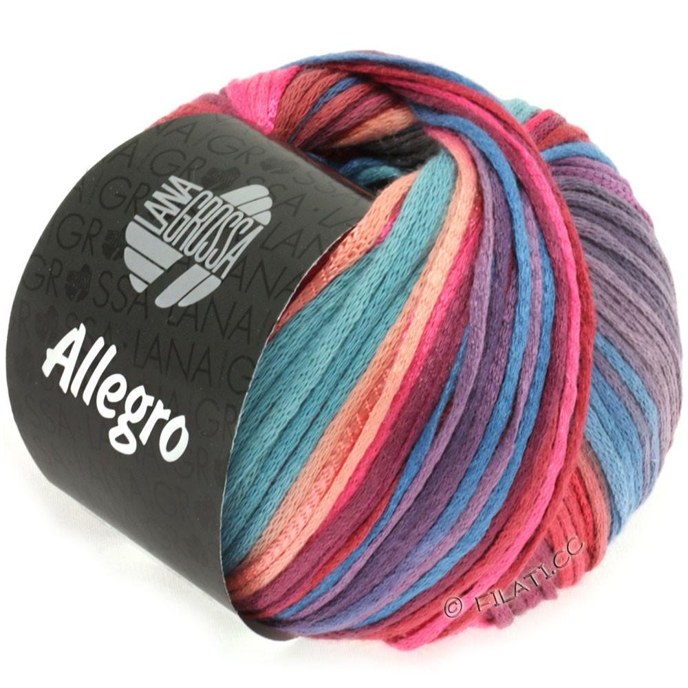 Lana Grossa ALLEGRO | 012-rose vif/saumon/pourpre/bleu gris