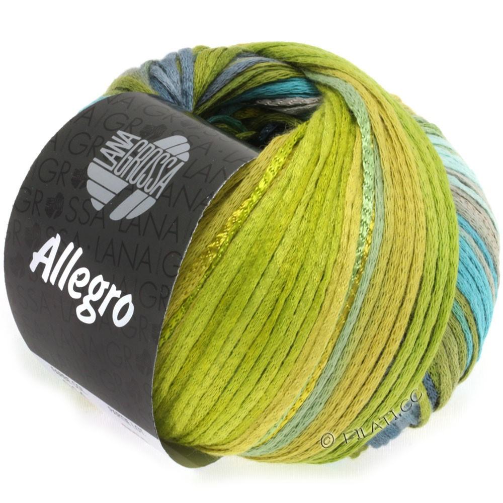 Lana Grossa ALLEGRO | 014-turquoise/vert olive/bleu acier/vert foin/vert mousse