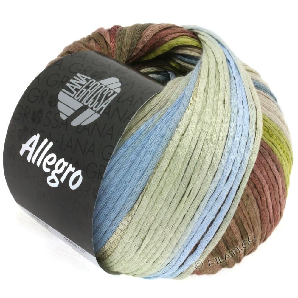 Lana Grossa ALLEGRO | 019-vert olive/bleu fumé/nougat/beige gris