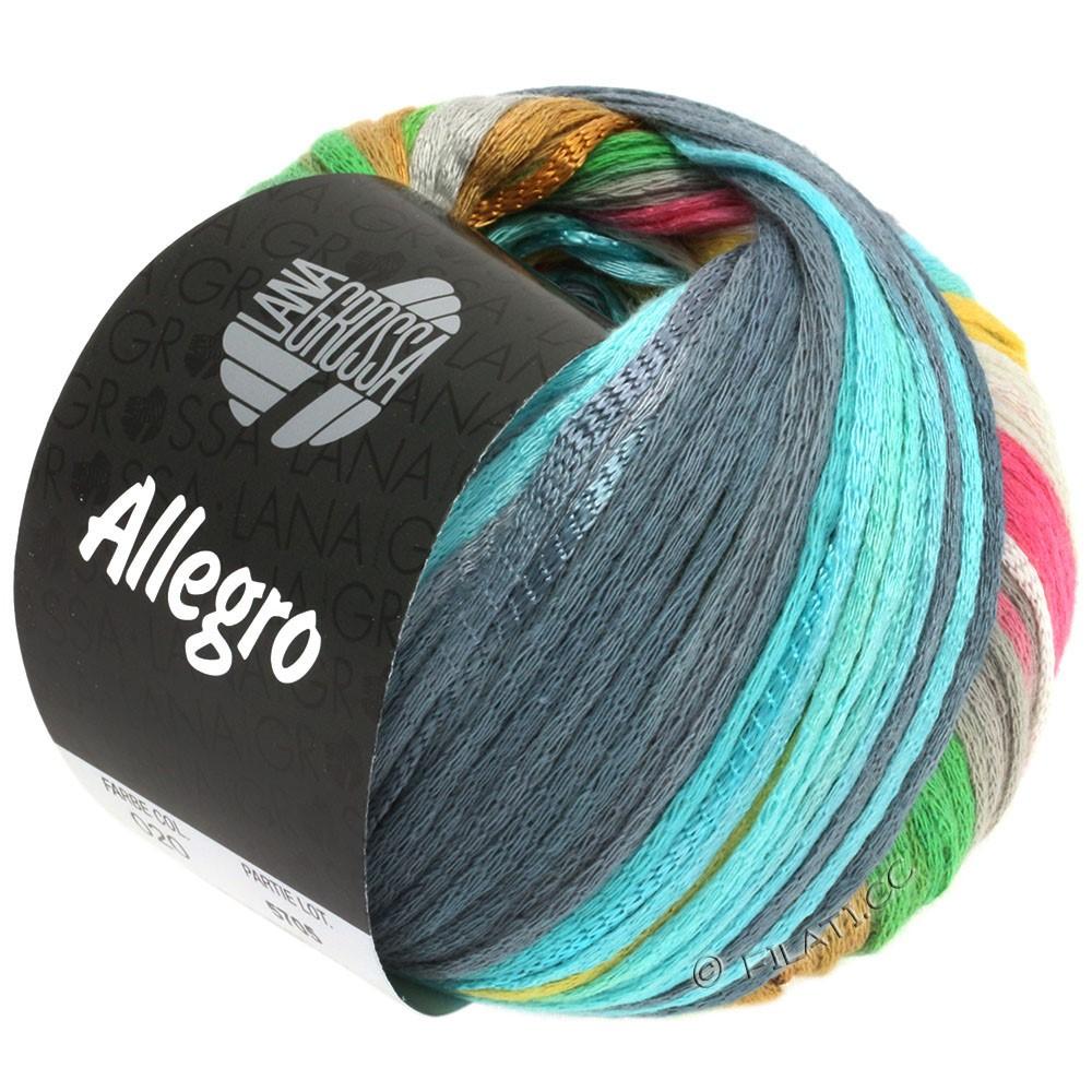 Lana Grossa ALLEGRO | 020-gris argent/jaune clair/rose/vert clair/gris bleu