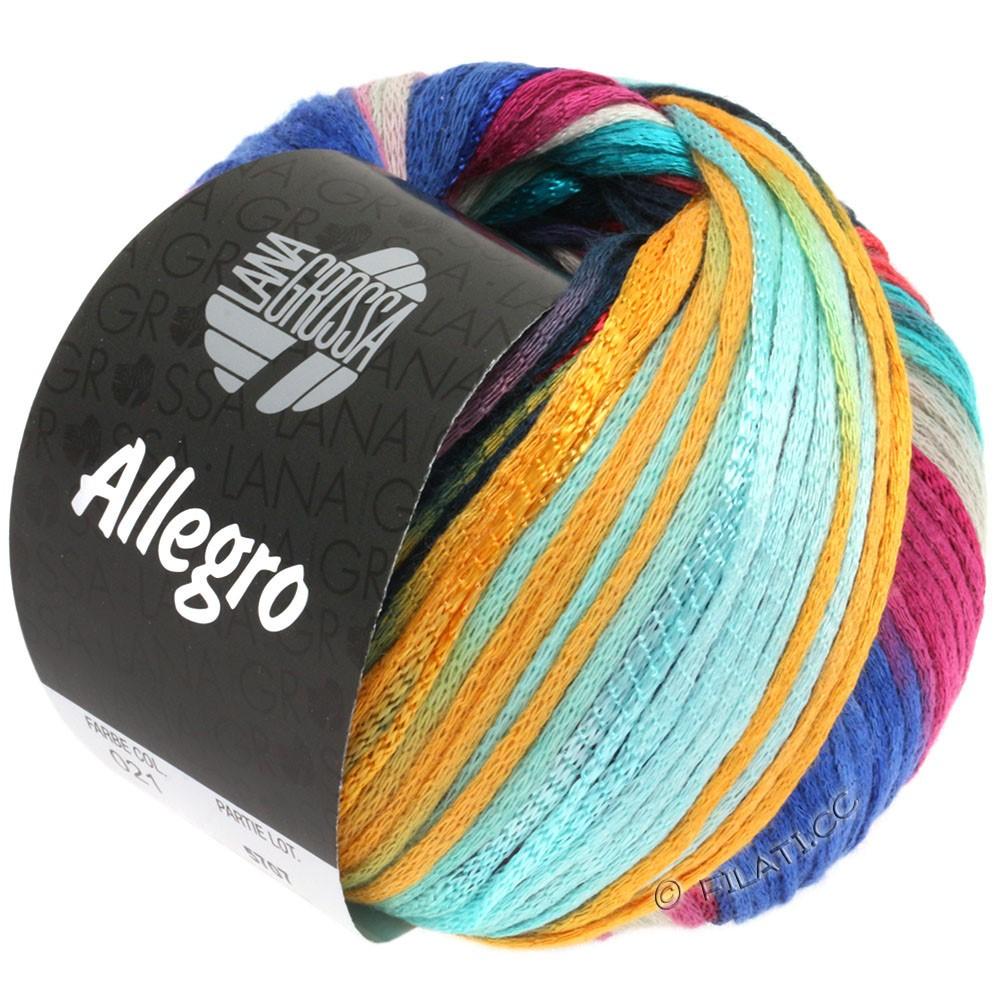 Lana Grossa ALLEGRO | 021-turquoise clair/bleu/pétrole/mandarine/rouge comme l'argile brûlée