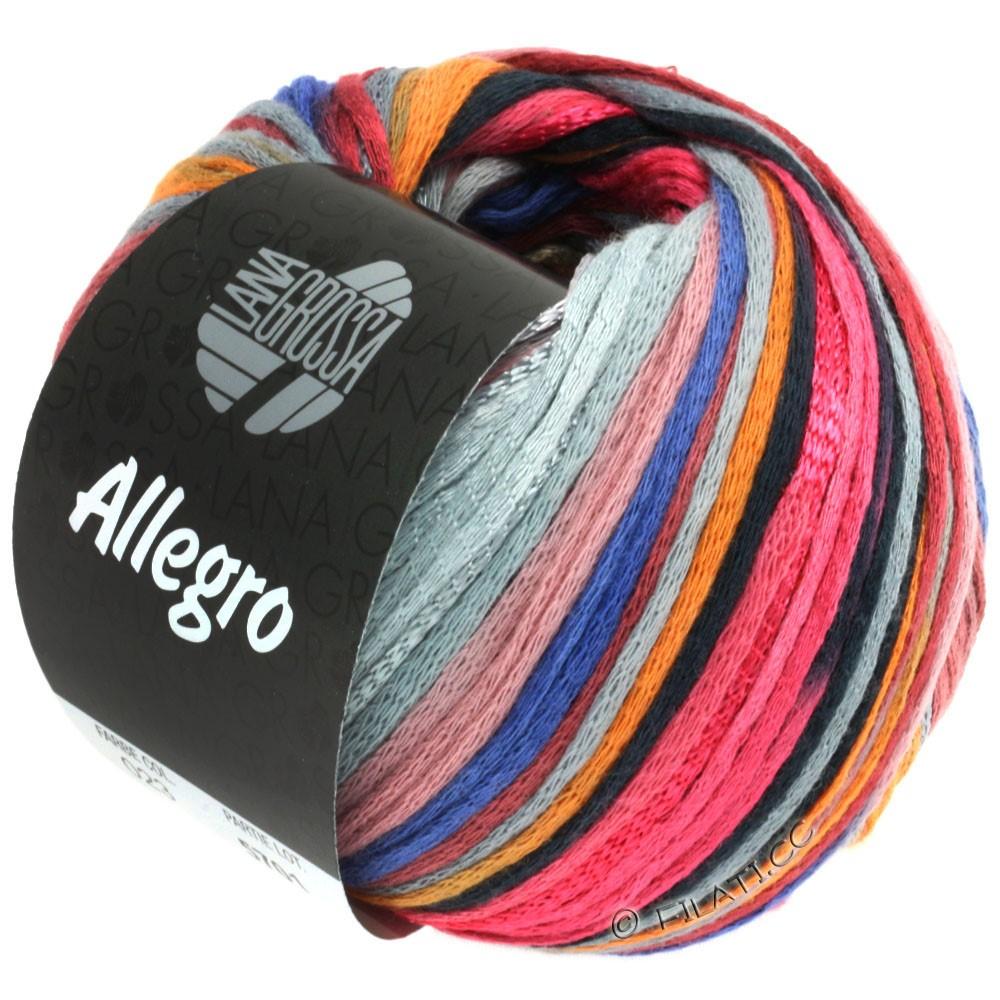 Lana Grossa ALLEGRO | 023-framboise/orange/gris argent/bleu acier