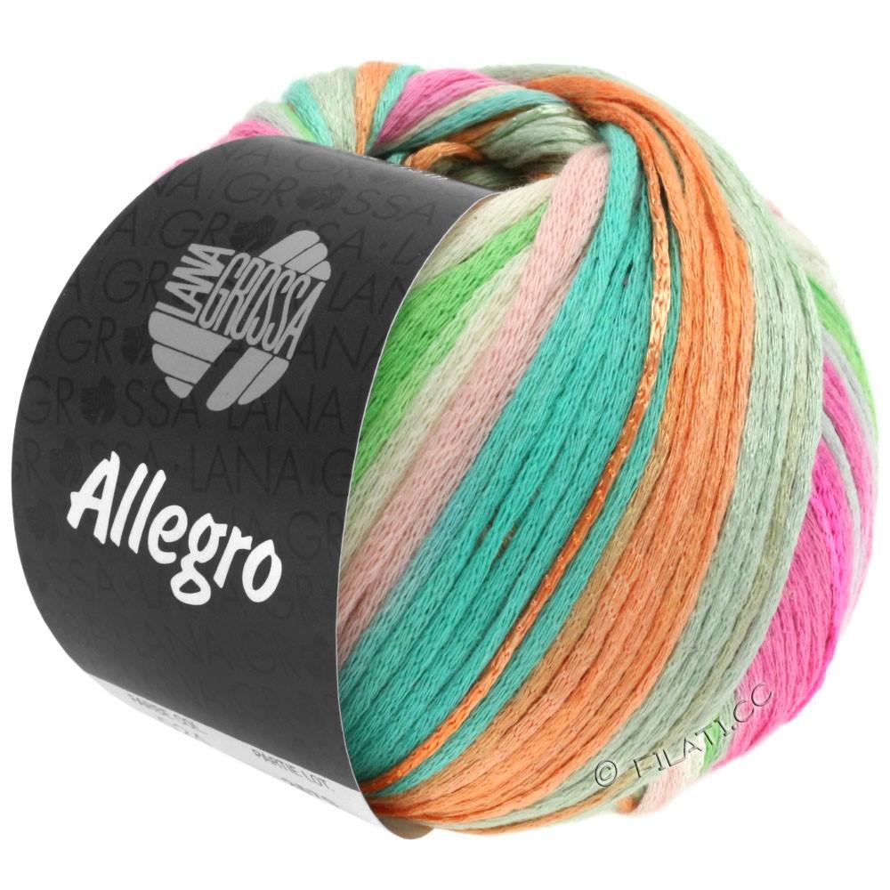 Lana Grossa ALLEGRO | 024-rose délicat/beige/vert pastel/turquoise/pêche