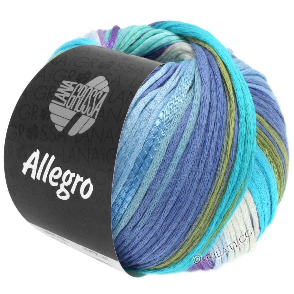 Lana Grossa ALLEGRO | 028-blanc/bleu clair/bleu ciel/turquoise clair/vert tendre
