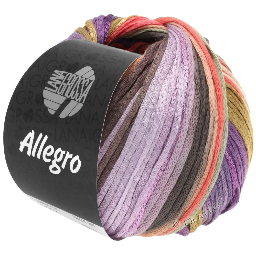 Lana Grossa ALLEGRO | 030-violet/saumon/beige/nature/lilas/taupe/gris clair