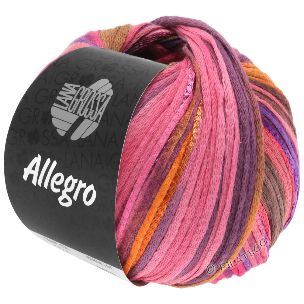 Lana Grossa ALLEGRO | 031-rose vif/orange/violet/cannelle