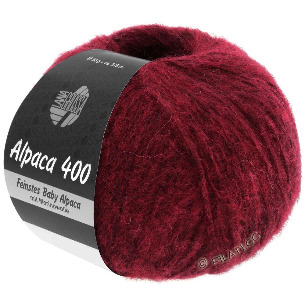 Lana Grossa ALPACA 400 | 09-rouge vin