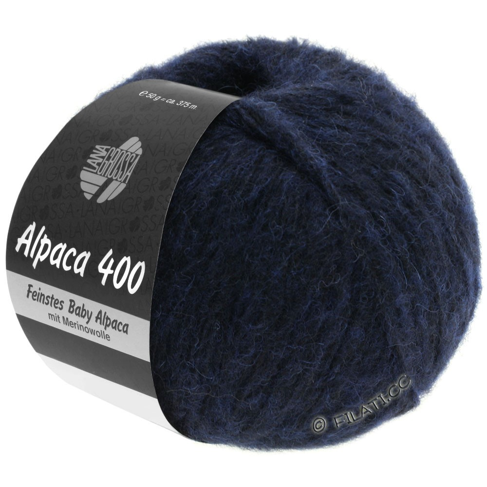 Lana Grossa ALPACA 400 | 10-bleu nuit