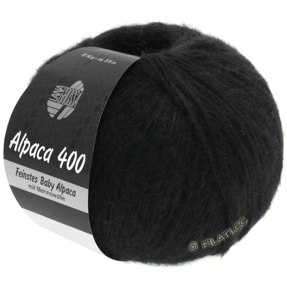 Lana Grossa ALPACA 400 | 12-noir