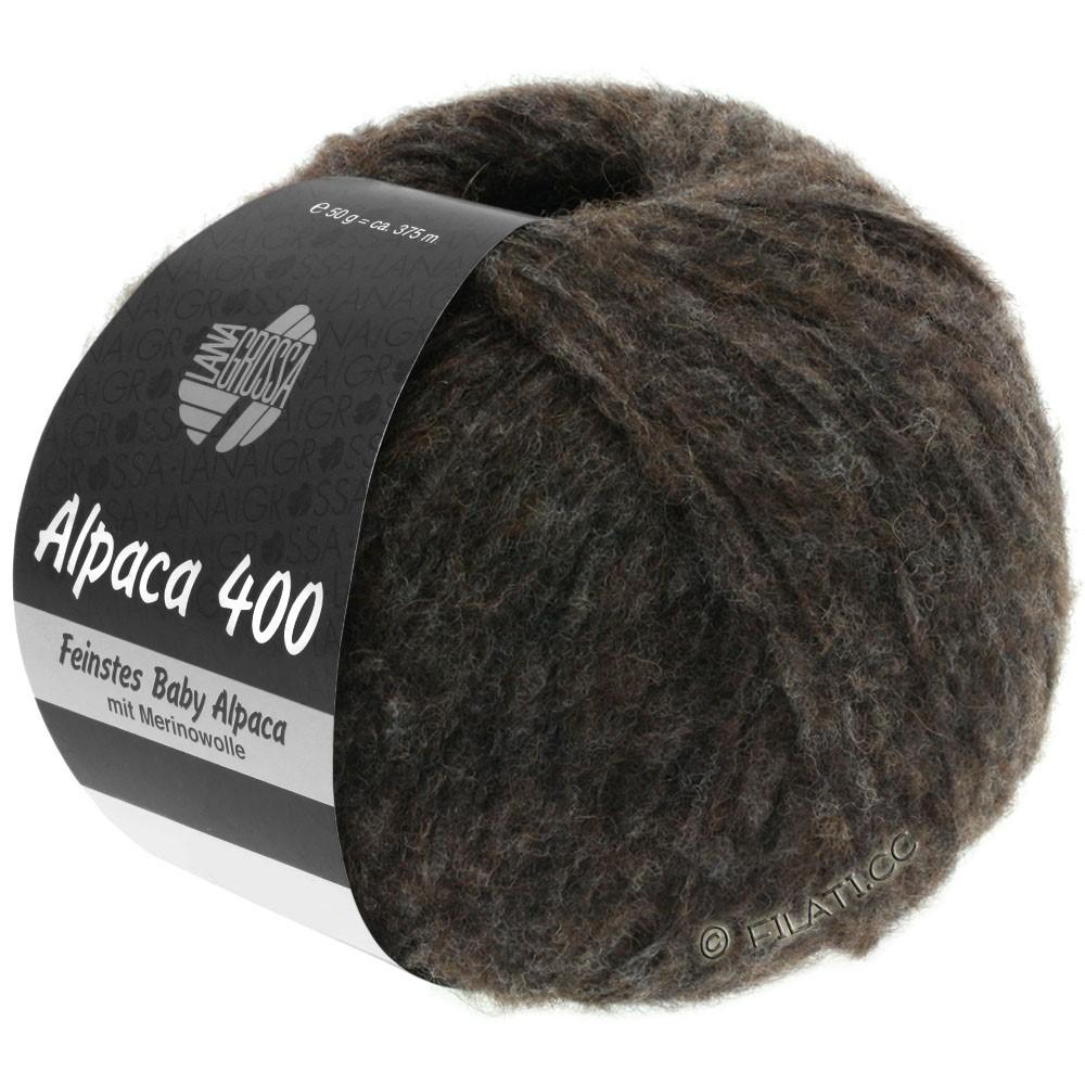 Lana Grossa ALPACA 400 | 13-brun noir