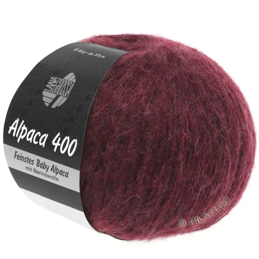 Lana Grossa ALPACA 400 | 16-rouge noir