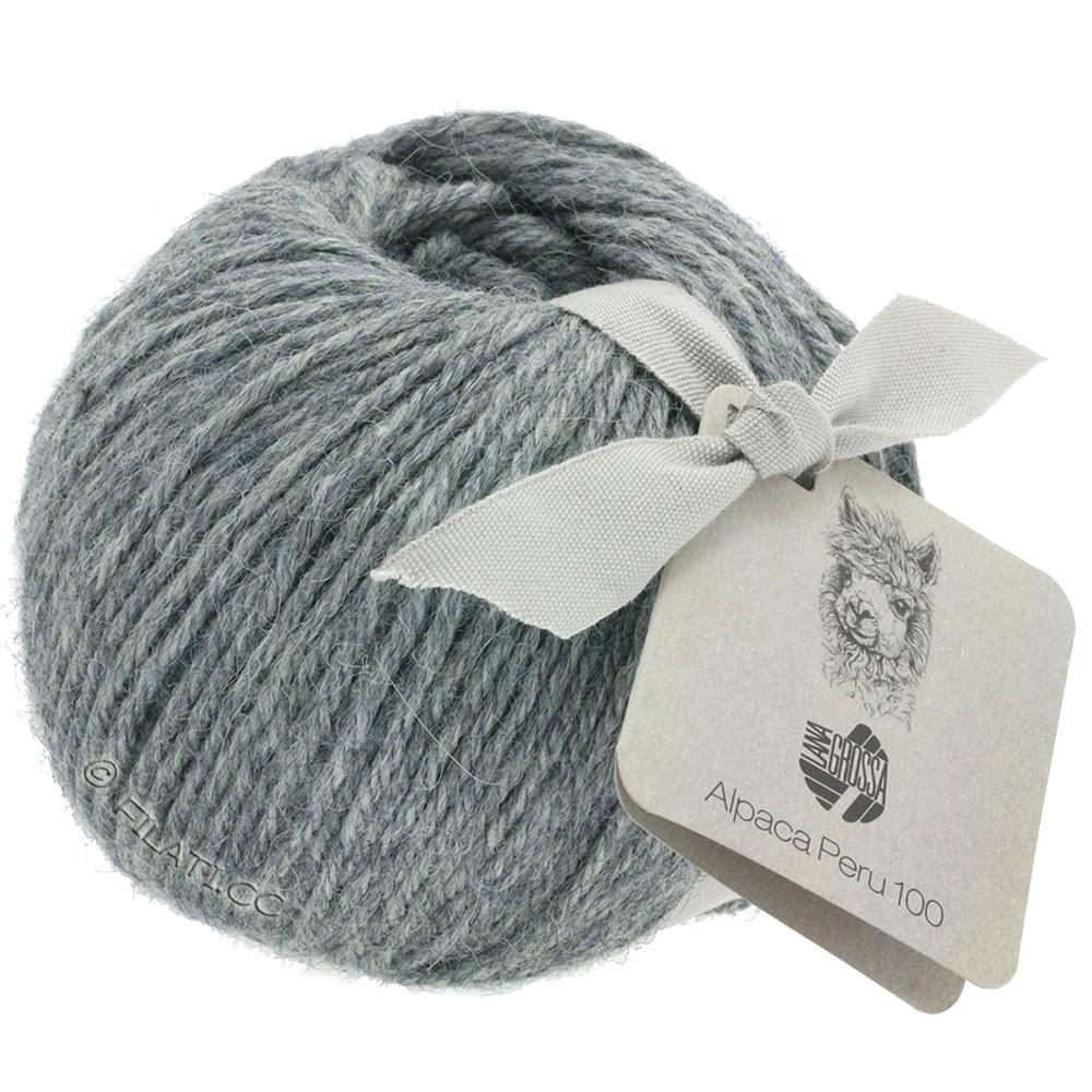 Lana Grossa ALPACA PERU 100 | 108-gris bleu