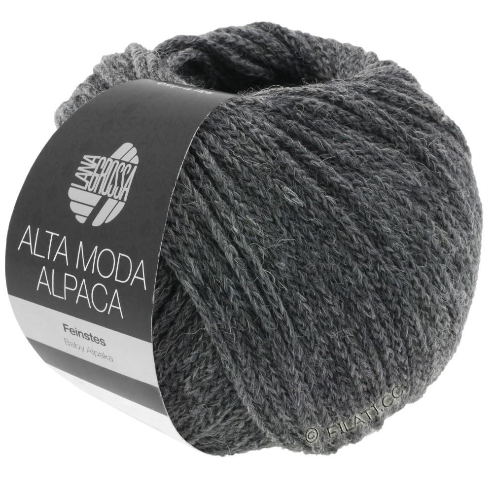 Lana Grossa ALTA MODA ALPACA | 22-gris foncé chiné