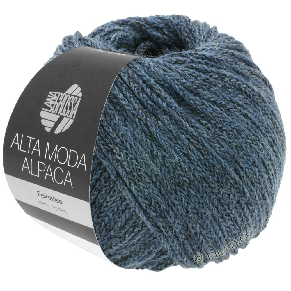 Lana Grossa ALTA MODA ALPACA | 60-bleu gris chiné