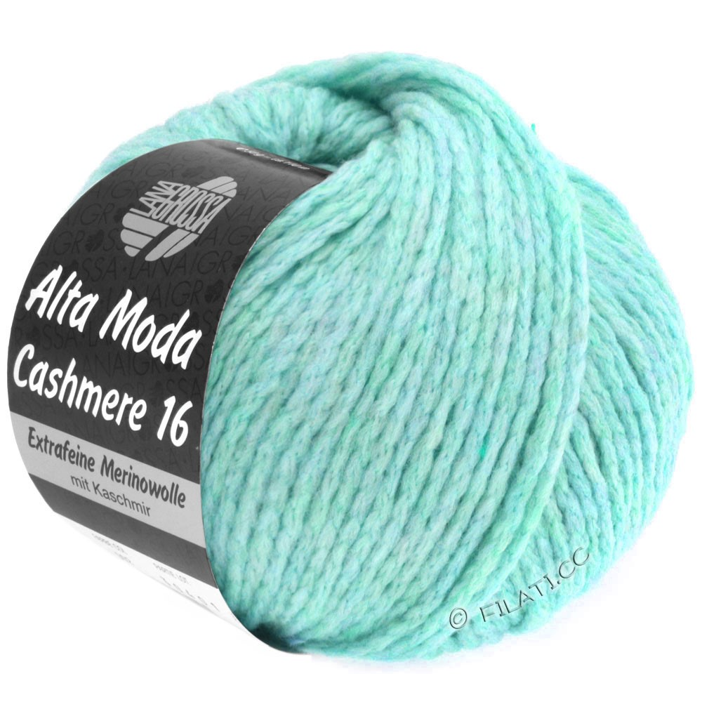 Lana Grossa ALTA MODA CASHMERE 16 Uni/Degradé   019-turquoise clair