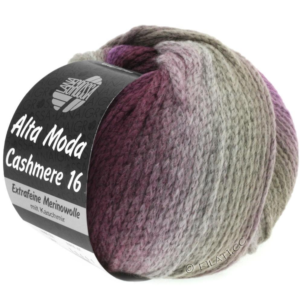 Lana Grossa ALTA MODA CASHMERE 16 Uni/Degradé | 102-taupe/mûre/violet