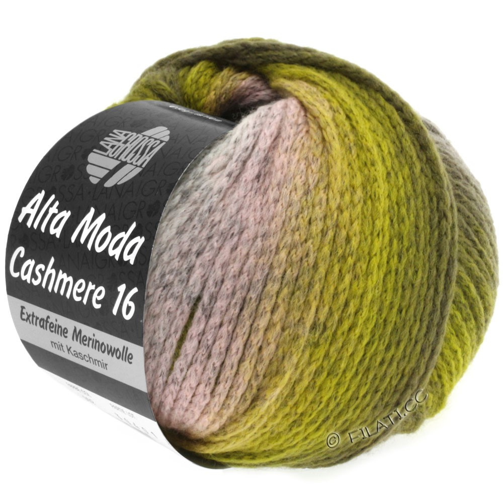 Lana Grossa ALTA MODA CASHMERE 16 Uni/Degradé | 103-rose/gris clair/olive/kaki