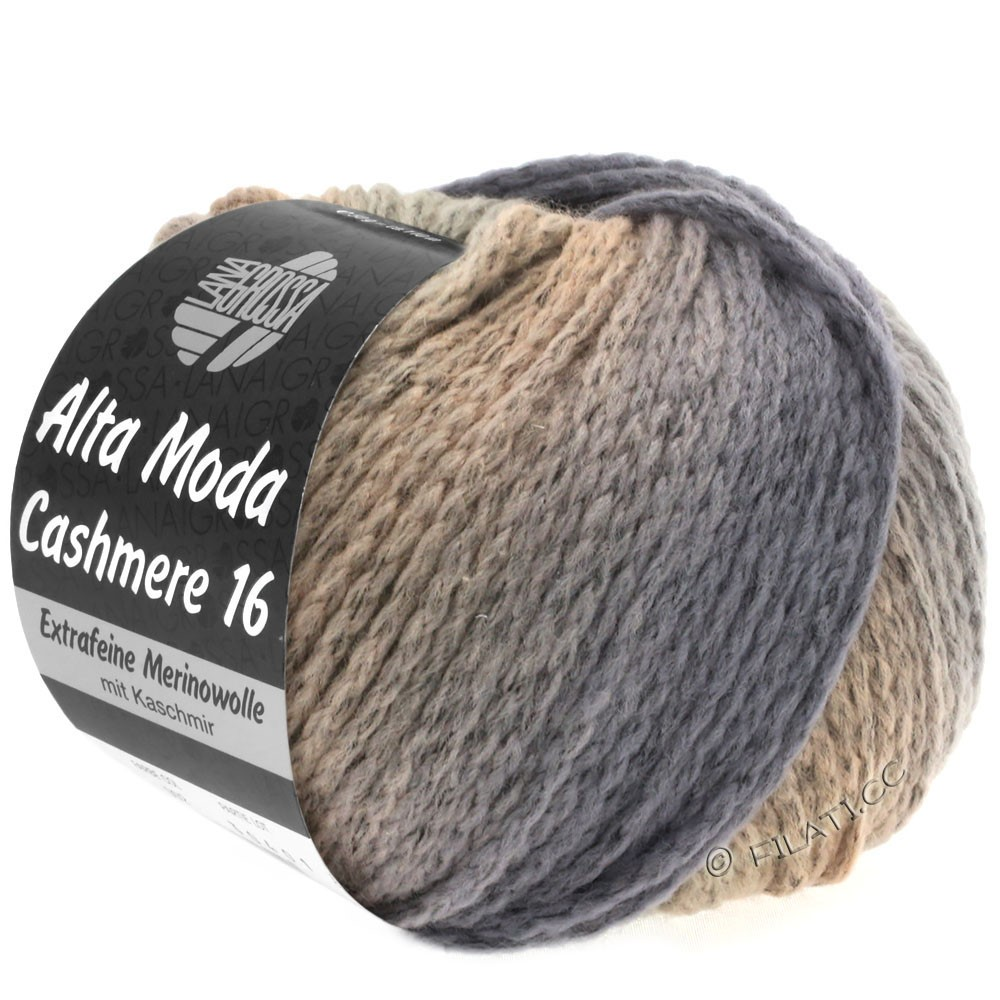 Lana Grossa ALTA MODA CASHMERE 16 Uni/Degradé | 111-gris/beige