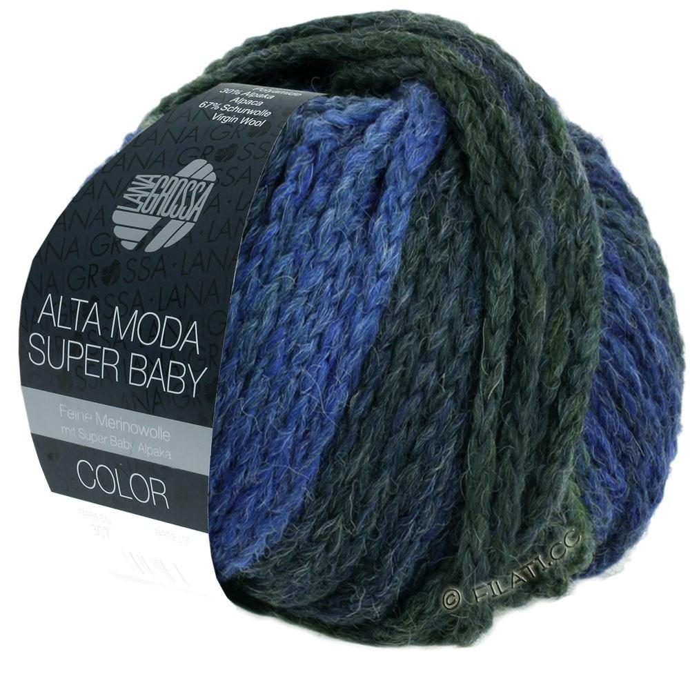 Lana Grossa ALTA MODA SUPER BABY  Color | 303-bleu clair/bleu/gris bleu