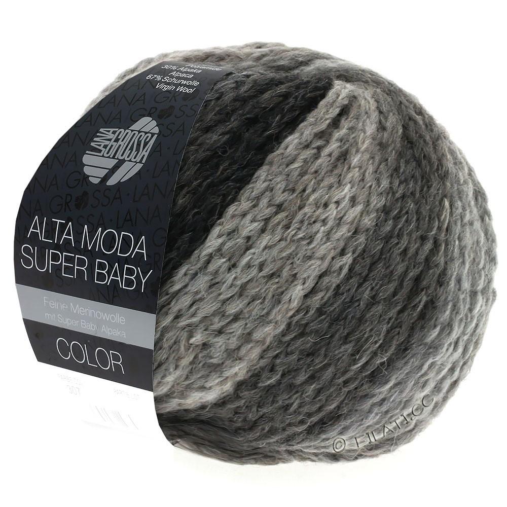 Lana Grossa ALTA MODA SUPER BABY  Color | 308-gris clair/gris foncé/anthracite