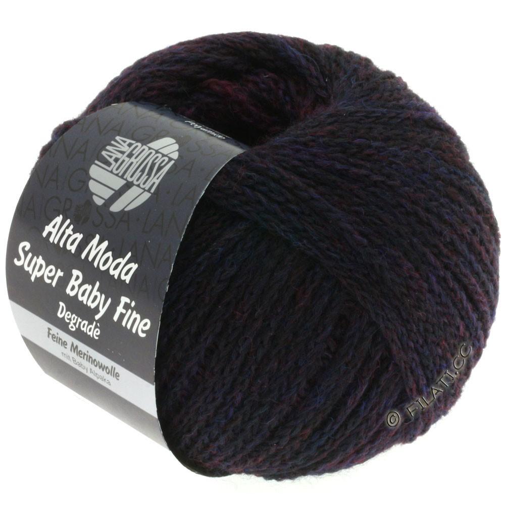 Lana Grossa ALTA MODA SUPER BABY FINE Degradè | 103-violet rouge/violet bleu/mûre