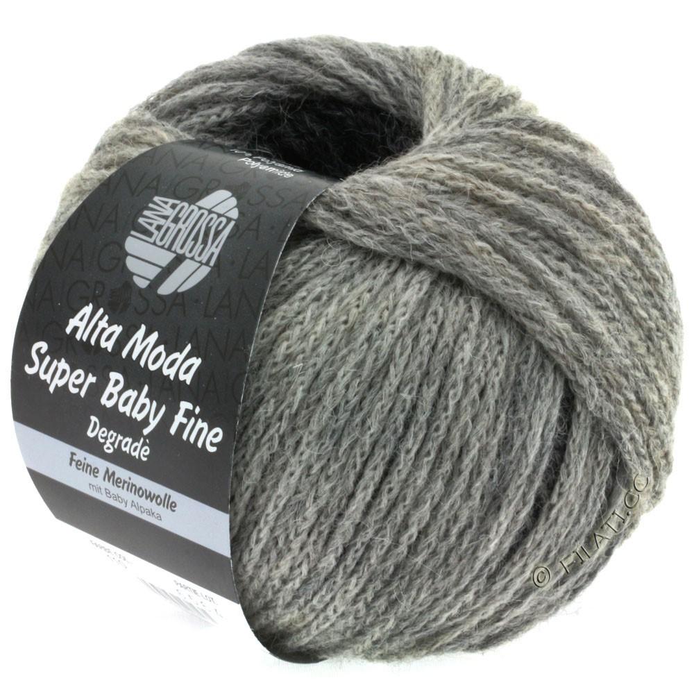 Lana Grossa ALTA MODA SUPER BABY FINE Degradè | 110-gris clair/gris moyen/gris foncé/anthracite
