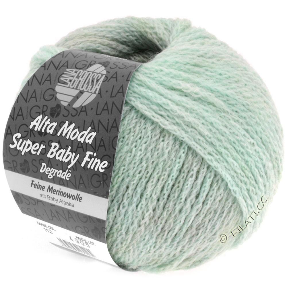 Lana Grossa ALTA MODA SUPER BABY FINE Degradè | 112-menthe/gris/nature