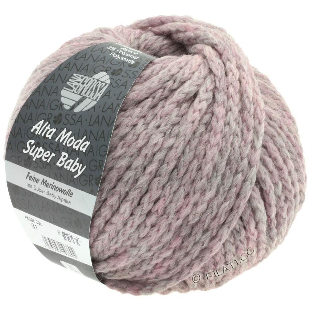 Lana Grossa ALTA MODA SUPER BABY  Uni | 031-gris lilas chiné