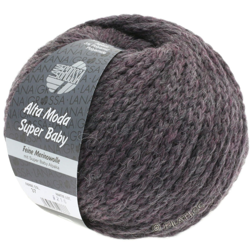 Lana Grossa ALTA MODA SUPER BABY  Uni | 37-violet gris chiné