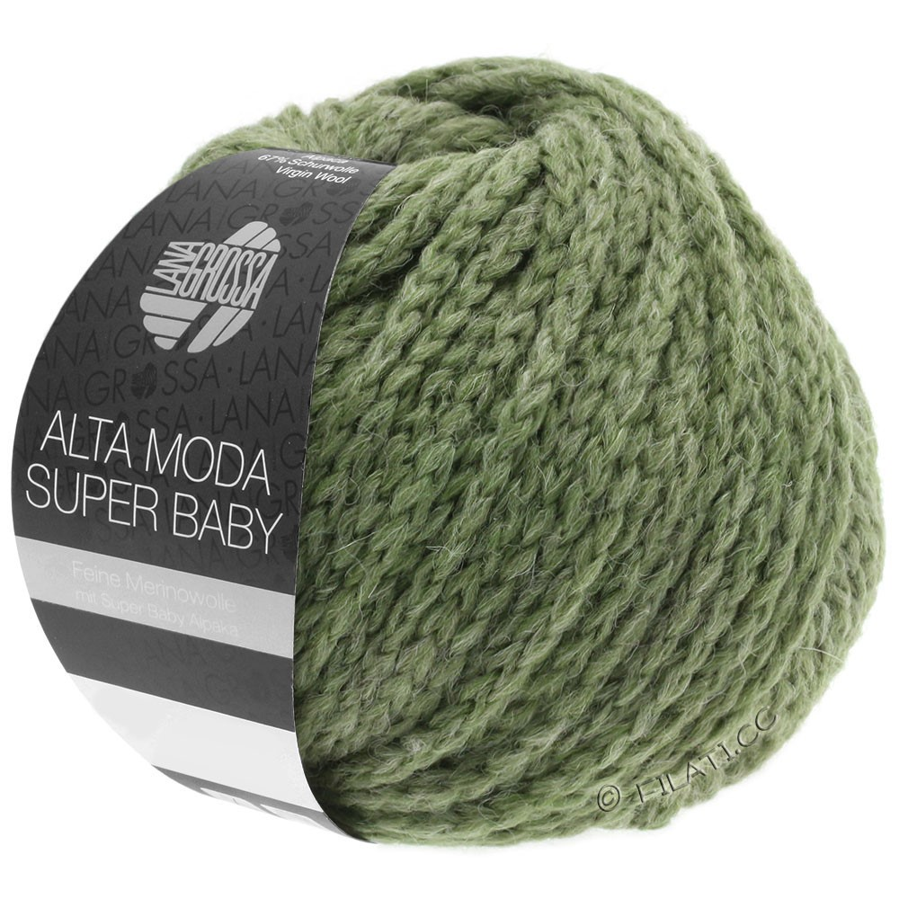 Lana Grossa ALTA MODA SUPER BABY  Uni | 044-gris vert