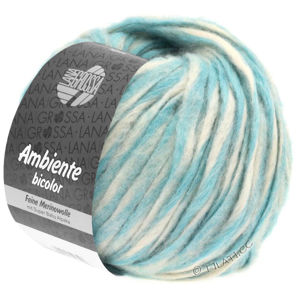 Lana Grossa AMBIENTE Bicolor | 102-écru/turquoise clair