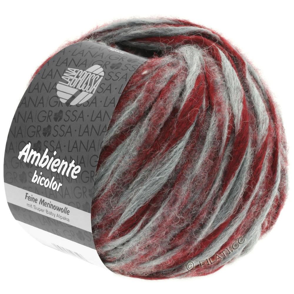 Lana Grossa AMBIENTE Bicolor | 106-gris/rouge brique