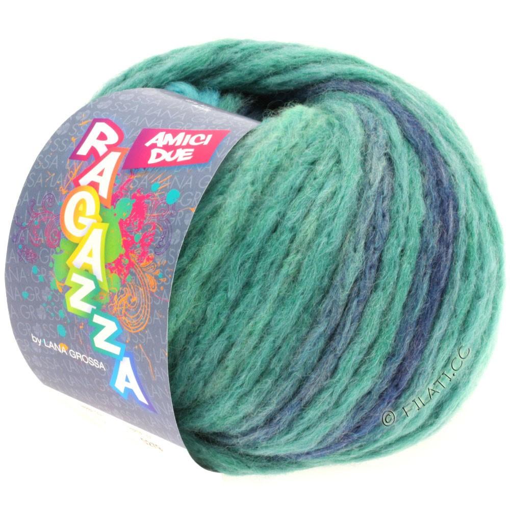 Lana Grossa AMICI DUE (Ragazza) | 102-pétrole/turquoise/taupe/jean