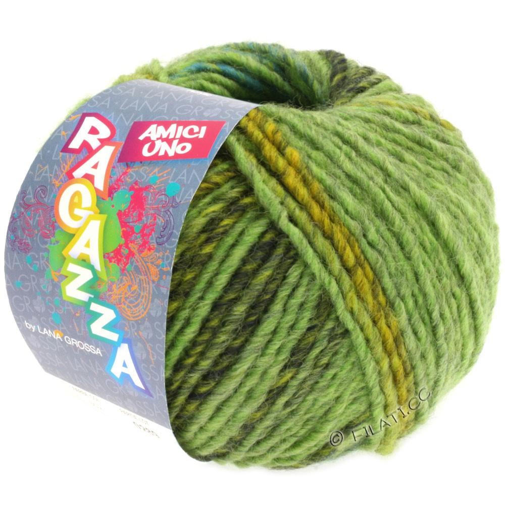 Lana Grossa AMICI UNO (Ragazza) | 301-vert clair/vert jaune/vert foncé