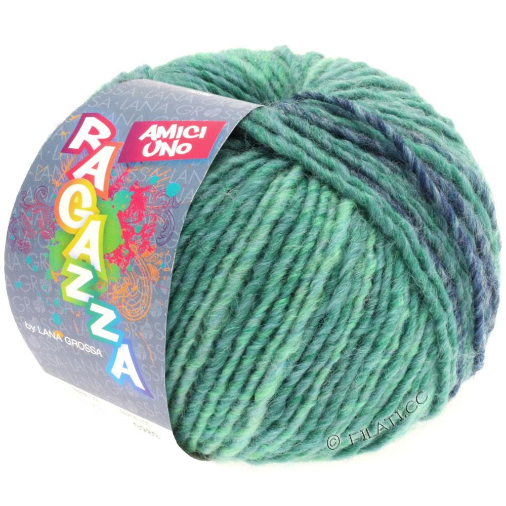 Lana Grossa AMICI UNO (Ragazza) | 302-pétrole/turquoise/taupe/jean