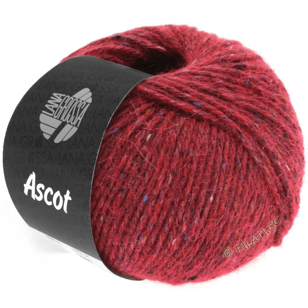 Lana Grossa ASCOT   05-rouge vin chiné