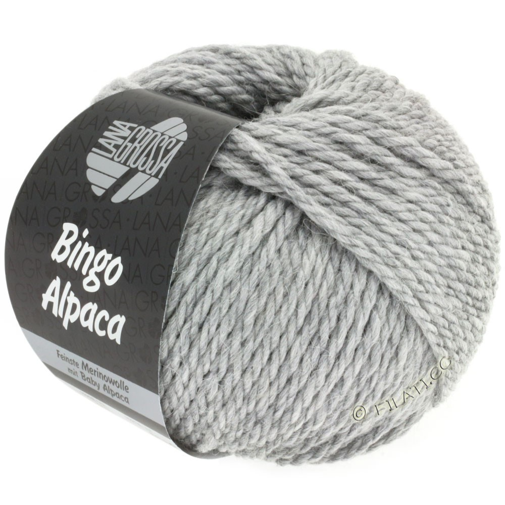 Lana Grossa BINGO ALPACA Uni | 12-gris