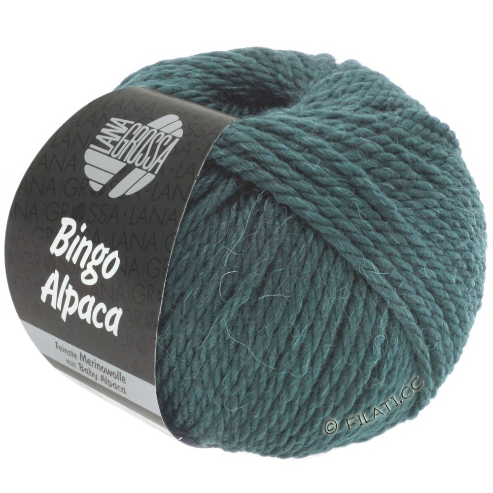 Lana Grossa BINGO ALPACA Uni | 18-gris vert