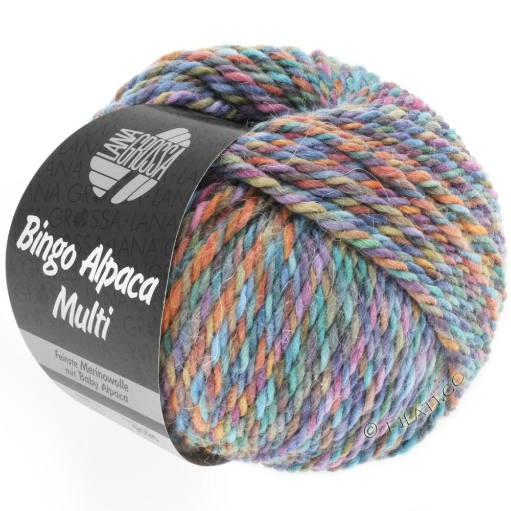 Lana Grossa BINGO ALPACA Multi | 105-turquoise/rouille/lilas/violet/brun